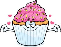 Cartoon Cupcake Hug Stock Photos