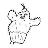 Cartoon cupcake monster Royalty Free Stock Images