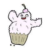 Cartoon cupcake monster Stock Image