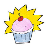 Cartoon cupcake Stock Photography