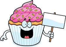 Cartoon Cupcake Sign Stock Photography