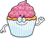 Cartoon Cupcake Waving Stock Images