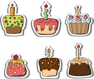 Cartoon cupcakes,vector. Illustration picture for your desing Royalty Free Stock Photo