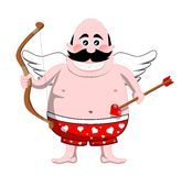 Cartoon Cupid with Bow and Arrow Stock Photography