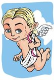 Cartoon cupid with bow and wings Stock Image