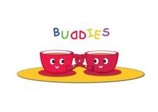 Cartoon cups Royalty Free Stock Image