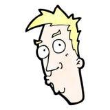 Cartoon curious face Stock Photo