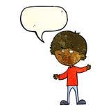 Cartoon curious man with speech bubble Royalty Free Stock Photo