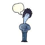 Cartoon curious vampire with speech bubble Stock Photos