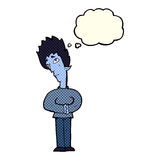 cartoon curious vampire with thought bubble Royalty Free Stock Photo