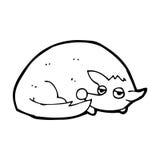 Cartoon curled up dog Stock Photo