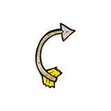 Cartoon curling arrow Royalty Free Stock Photos