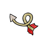 Cartoon curling arrow Royalty Free Stock Photo