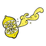 cartoon cut lemon Stock Images