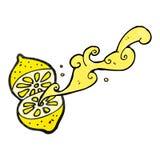 Cartoon cut lemon Stock Images