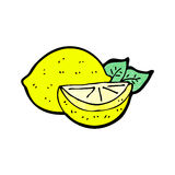 cartoon cut lemon Stock Photography