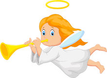 Cartoon cute angel Royalty Free Stock Image