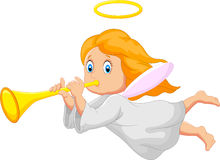 Cartoon cute angel Stock Photography