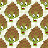 Cartoon Cute Artichoke Seamless Pattern Royalty Free Stock Photography