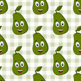 Cartoon Cute Avocado Seamless Pattern Royalty Free Stock Photography