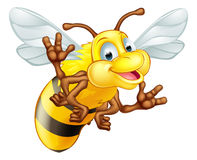 Cartoon cute bee Stock Photo