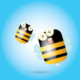 Cartoon cute bright baby bee. vector Royalty Free Stock Images