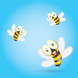 Cartoon cute bright baby bee. vector Royalty Free Stock Photos