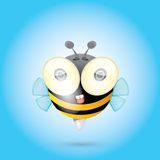 Cartoon cute bright baby bee. vector Stock Photo
