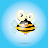 Cartoon cute bright baby bee. vector Stock Photography