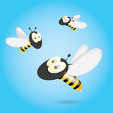 Cartoon cute bright baby bee. vector Stock Images