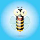 Cartoon cute bright baby bee. vector Royalty Free Stock Image