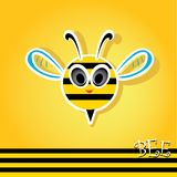 Cartoon cute bright baby bee. vector illustration. Stock Photography