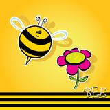 Cartoon cute bright baby bee. vector illustration. Stock Photos