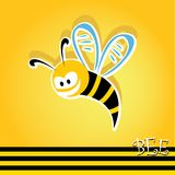 Cartoon cute bright baby bee. vector illustration. Stock Images