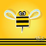 Cartoon cute bright baby bee. vector illustration. Royalty Free Stock Photography