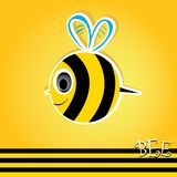 Cartoon cute bright baby bee. vector illustration. Stock Photo