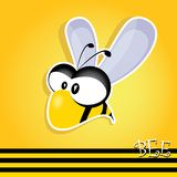Cartoon cute bright baby bee. vector illustration. Royalty Free Stock Image