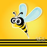 Cartoon cute bright baby bee. vector illustration. Royalty Free Stock Photo