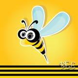 Cartoon cute bright baby bee. vector illustration. Royalty Free Stock Photo