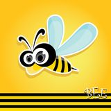 Cartoon cute bright baby bee. vector illustration. Royalty Free Stock Photos