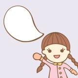 Cartoon cute with bubble speech Stock Photography