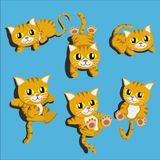 Cartoon cute cat Vector Cartoons Design Vector royalty free illustration