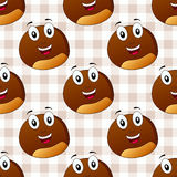 Cartoon Cute Chestnut Seamless Pattern Stock Photo