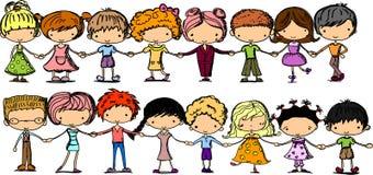Cartoon cute children,vector Stock Images