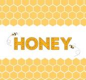Cartoon cute colorful vector hand drawn honeycomb border Stock Image