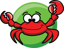 Cartoon cute  crab,vector Royalty Free Stock Photo