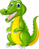Cartoon cute crocodile Royalty Free Stock Photos
