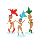 Cartoon cute design of dancing samba queen Royalty Free Stock Photography