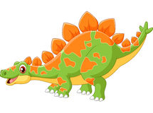 Cartoon cute dinosaur Royalty Free Stock Images