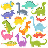 Cartoon cute dinosaurs vector. Royalty Free Stock Photography